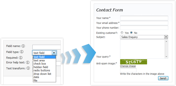 easily create web forms