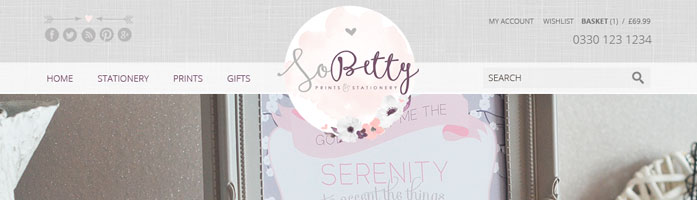 sobetty ecommerce website