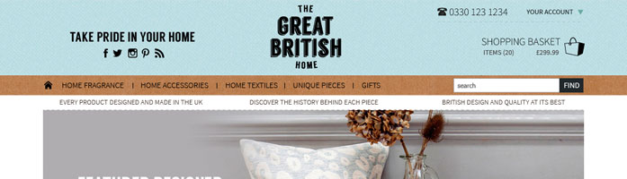 the great british home ecommerce website